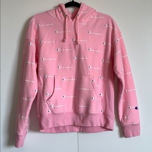 Light Pink Champion pullover with hood